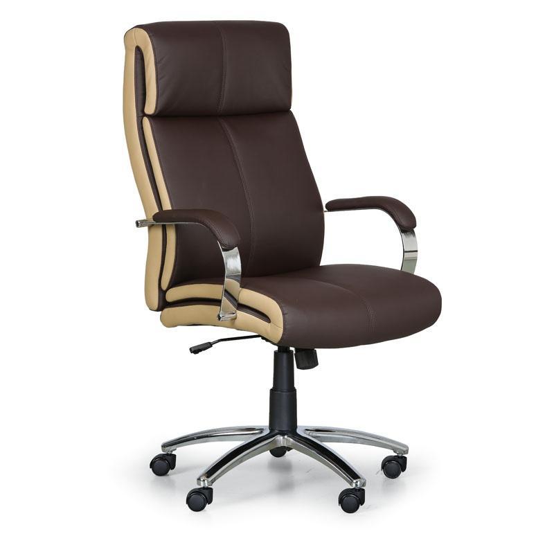 Kancelárske kreslo Half, hnedá/béžová