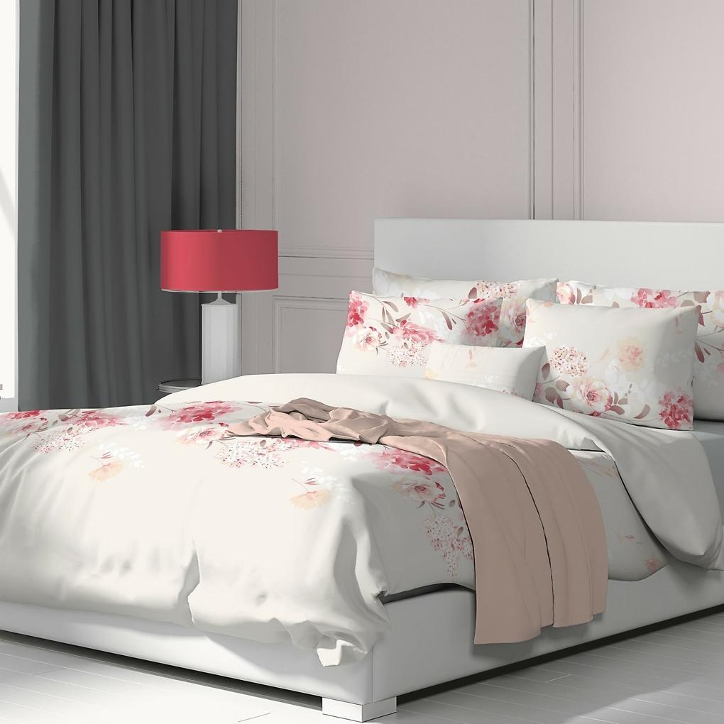 Kvalitex Bavlnené obliečky Tanea ružová, 140 x 200 cm, 70 x 90 cm