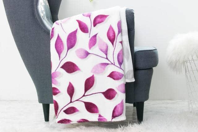 XPOSE ® Deka mikroplyš s beránkem IVANKA- fialová 140x200 cm