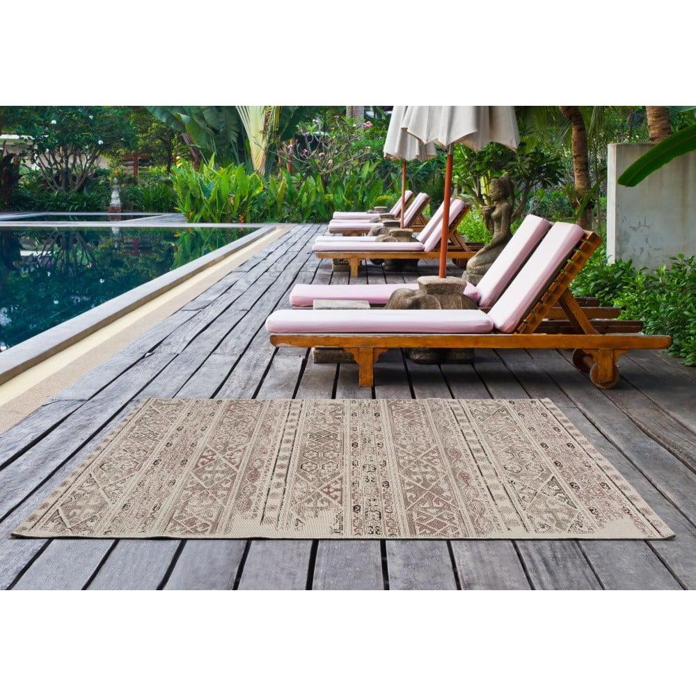 Béžový koberec vhodný aj do exteriéru Universal Bilma Beige, 80 × 150 cm