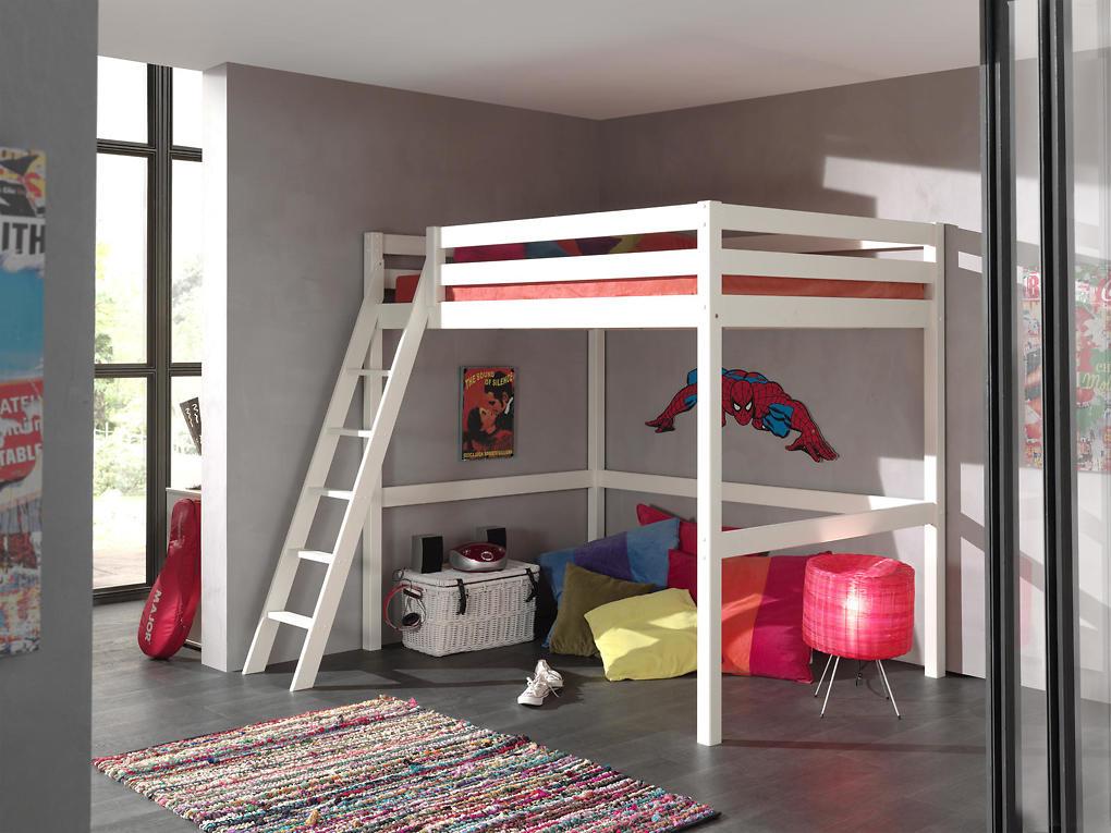 Poschodová posteľ pre študenta Mezanine - 140x200 cm