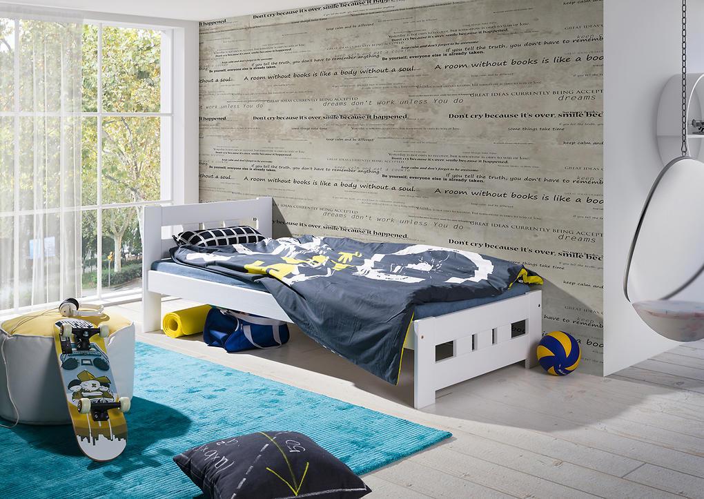 Posteľ Vanesa - biela 200x90 cm posteľ + úložný priestor biela