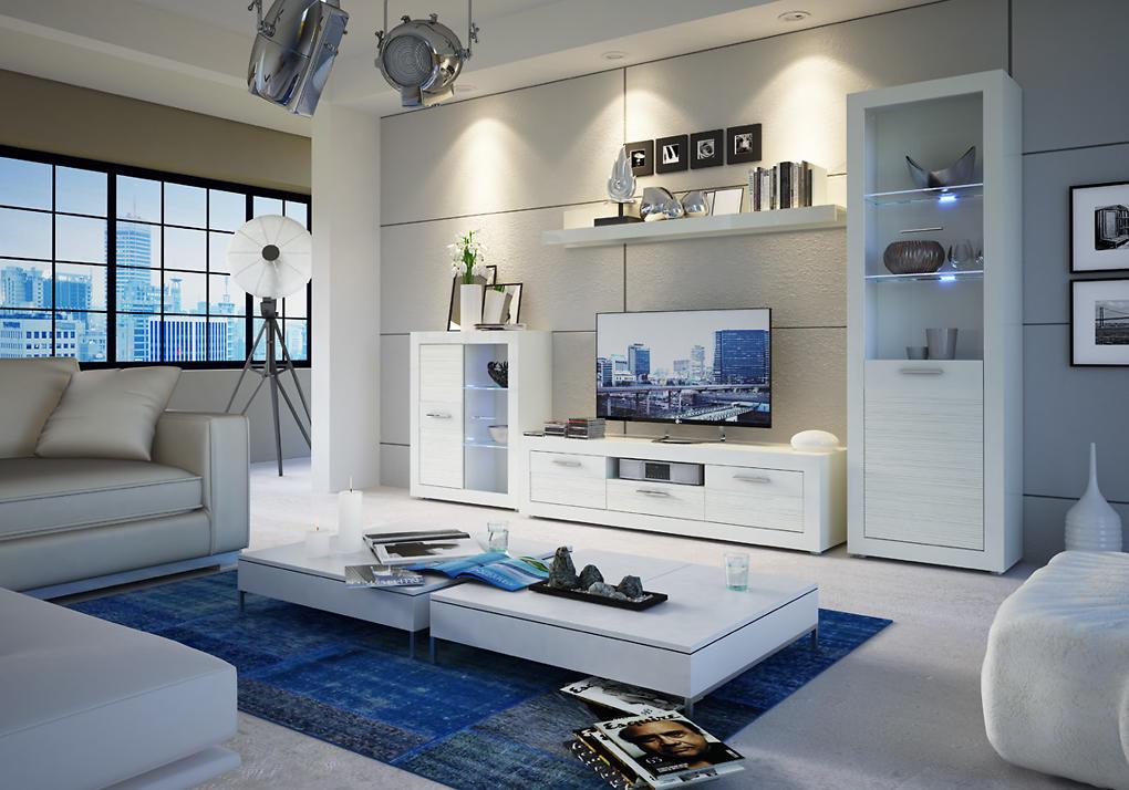 Biela obývacia stena MATIX