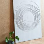 betonove obrazy ako dekoracia interieru